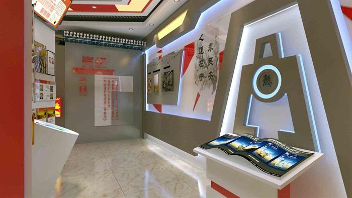 中国梦党建系列文化展厅3D模型及效果图(13)