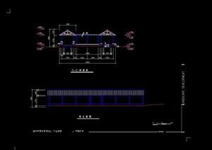 详细完整的亭廊设计cad施工图