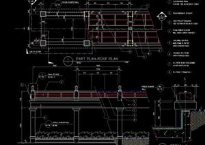 亭廊详细设计cad施工图