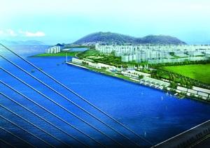 滨水城市海湾景观设计效果图