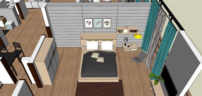 室内一楼家装设计模型II(2)
