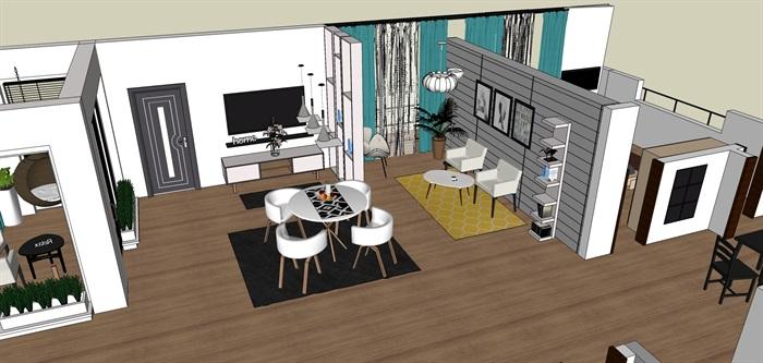室内一楼家装设计模型II(3)