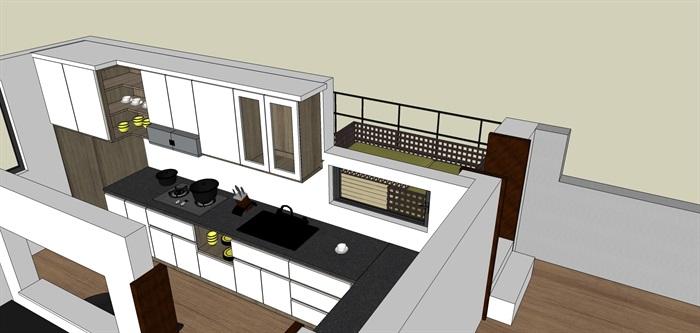 室内一楼家装设计模型II(6)