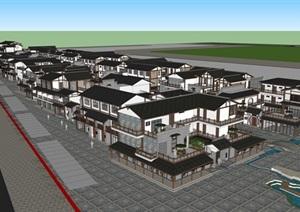 某地中式风格商业步行街