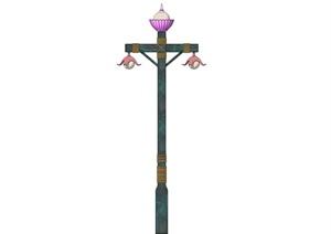 艺术复古景观灯路灯SU(草图大师)模型