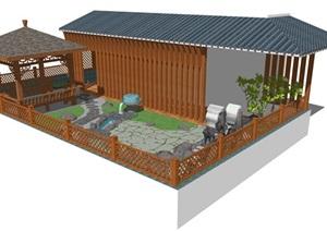 精品屋顶花园SU(草图大师)模型