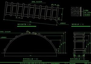 弧形花架过道设计cad施工图