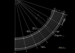 弧形花架完整设计cad施工图