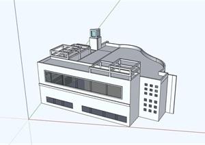 两层餐厅建筑楼SU(草图大师)模型