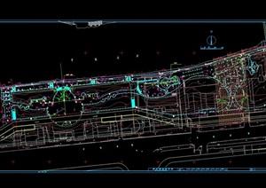 某环北运河绿地设计cad方案