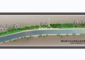 某东桥段运河公园全套cad施工图