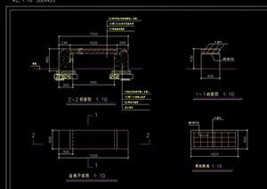 详细的完整坐凳cad施工图