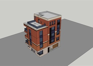 某私人住宅设计方案dwg图?#37066;?#27169;型