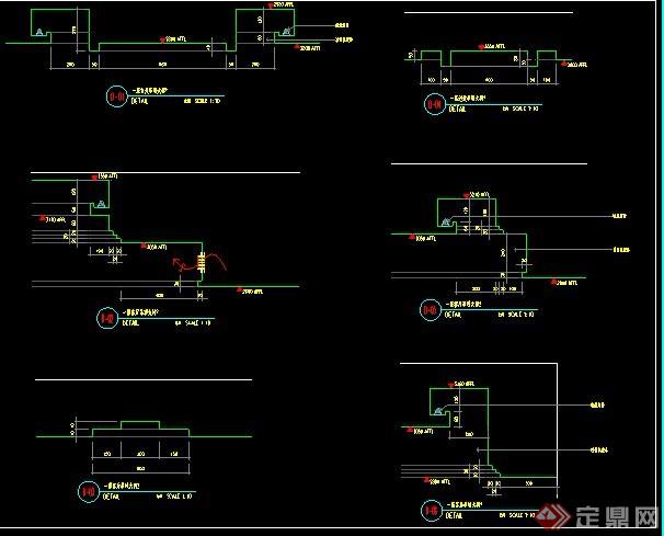 三套卫生间室内装修设计施工图