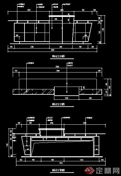 两款服务台前台设计方案图纸