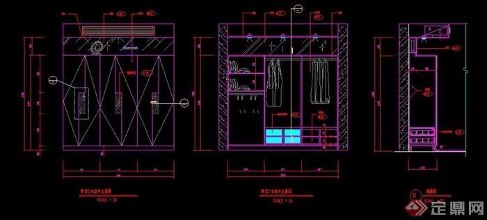 多款衣柜设计图纸