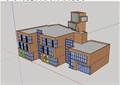 三层餐馆建筑设计su模型