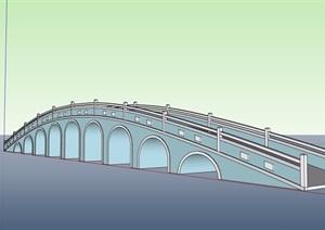 现代景观拱桥设计SU(草图大师)模型