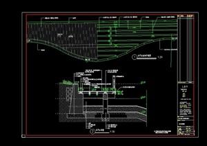 水上木平台设计cad施工图