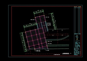某详细挑台楼梯设计cad施工图