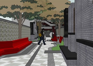 文化街道升级街巷微景观创意升级改造