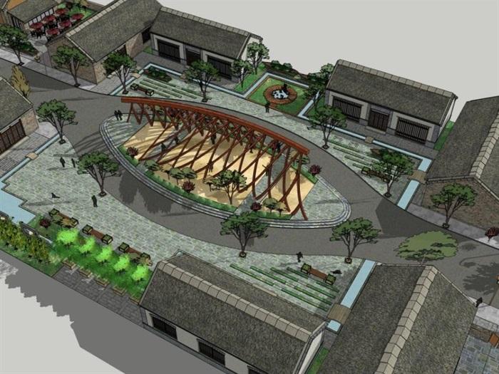 生态乡村度假旧村镇旅游改造风情民俗文化商业步行街(5)