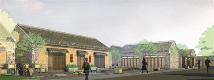生态乡村度假旧村镇旅游改造风情民俗文化商业步行街(6)