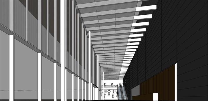 现代创意体块简洁深色调表皮城市规划展览博物馆(2)
