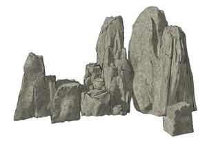 石头假山叠石假山SU(草图大师)模型