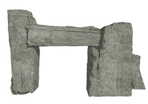 叠石假山石头假山SU(草图大师)模型