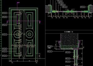 5款门扇设计施工图纸