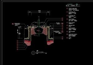 树池设计cad剖面图