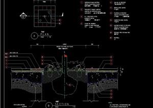 现代平剖面树池设计cad施工图