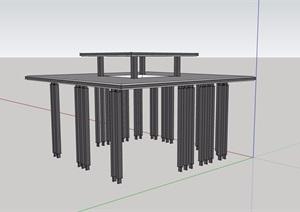 园林景观节点亭子设计SU(草图大师)模型