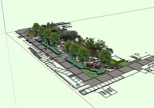 某住宅中庭景观设计SU(草图大师)模型