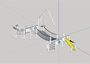 园林景观详细的游乐设施素材设计SU(草图大师)模型