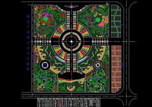 海化广场绿化设计cad方案