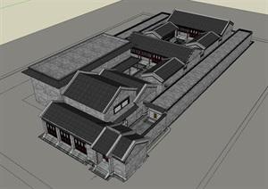 天津老城博物馆一手实体资料(CAD+精细SU(草图大师))