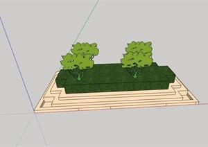 台阶式种植池设计SU(草图大师)模型