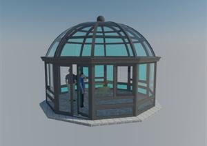 多角球形阳光房SU(草图大师)模型
