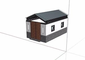 中式风格公建素材设计SU(草图大师)模型