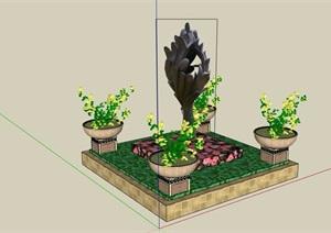 种植花池详细设计SU(草图大师)模型