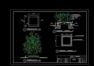 方形种植池设计cad施工图