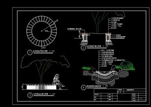 详细完整的种植树池设计cad施工图