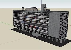 现代风格详细的独特酒店SU(草图大师)模型