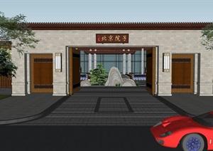 中式售楼处样板区泰禾北京院子