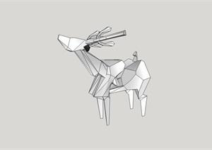 售楼处样板区小品鹿雕塑