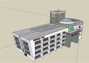 某红十字会医院设计SU(草图大师)模型