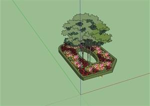 园林景观种植树池花池设计SU(草图大师)模型