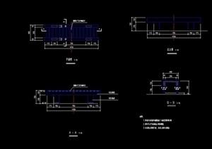 详细的树池坐凳设计cad施工图